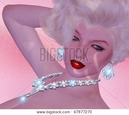 Diamonds and Blonde Woman