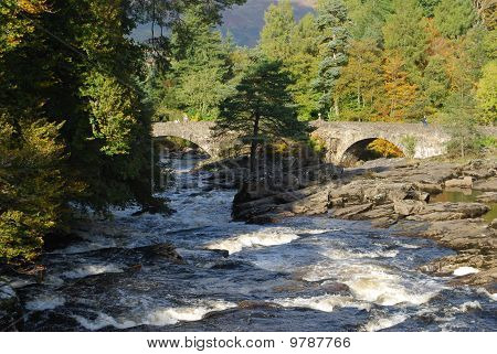 Falls Of Dochart And Bridge