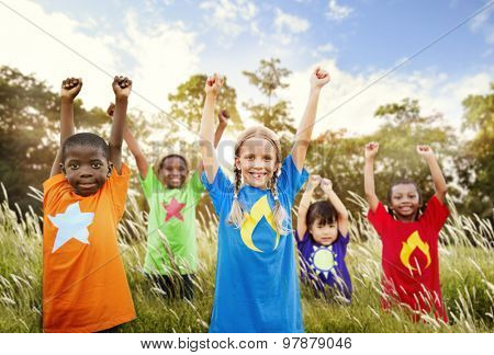 Children Playful Friendship Friends Child Concept