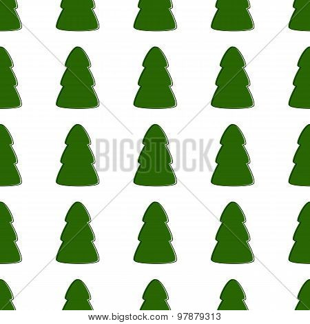 Background With Fir-trees