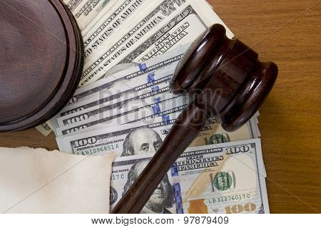 Gavel And Dollars