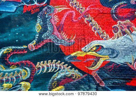 Street art Montreal eagle