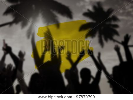 Summer Vacation Holidays Paint Stroke Concept
