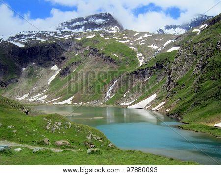 Alpine Reservoir Near Gorner Glacier