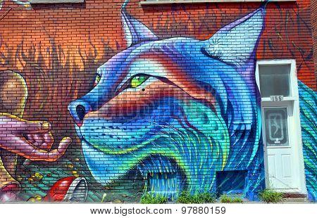 Street art Montreal lynx