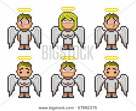 Pixel angels for game