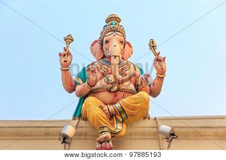 Ganesh Sculpture At Sri Mariamman Hindu Temple