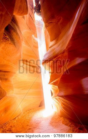 Sunbeam Shining Into Antelope Canyon