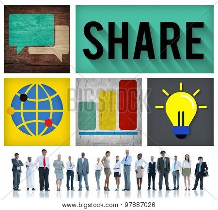 Share Sharing Social Networking Participate Concept