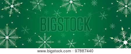Christmas Snowflake Background Illustration
