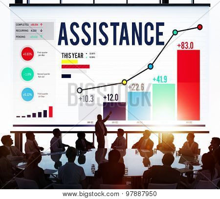 Assistance Support Help Aid Corporate Concept