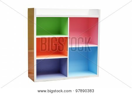 a colorful cupboard isolated on whie background