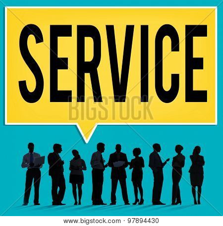Service Loyalty Strategy Customer Help Concept