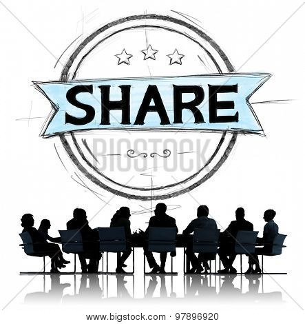 Share Sharing Networking Connection Exchange Concept