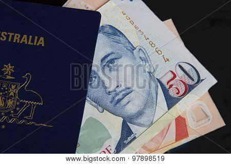 Passport and Singaporean Dollars