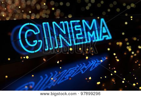 Neon Cinema Sign