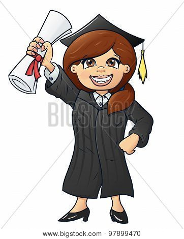 Student holding her diploma 2