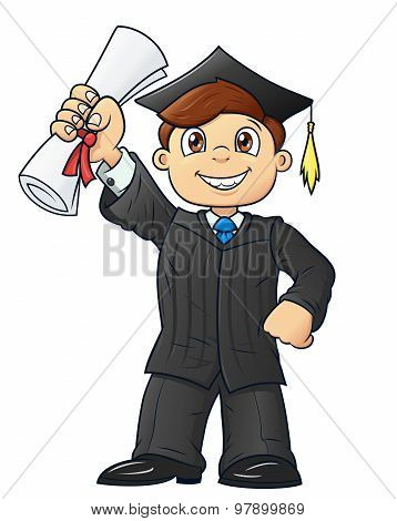 Student holding his diploma 2
