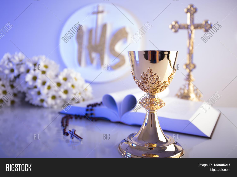 First holy communion catholic image photo bigstock first holy communion catholic religion theme crucifix bible bread isolated on white biocorpaavc