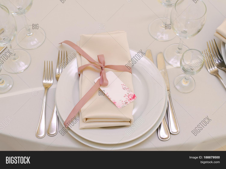 Beautiful Example Table Setting Image Photo Bigstock