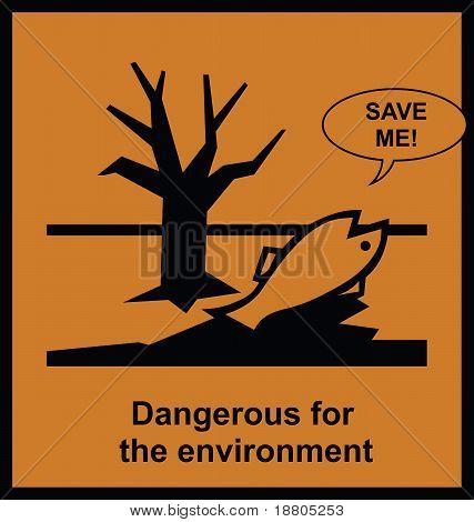 Sign dangerous