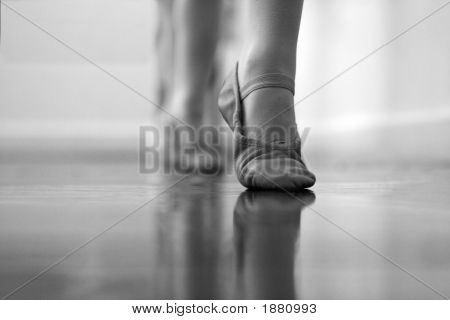Dancer'S Foot And Ballet Shoes