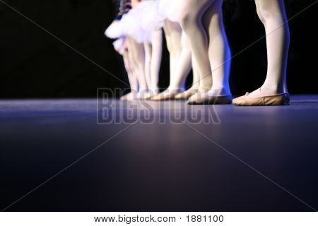 Recital Dancers Standing In A Line