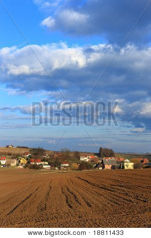 Polish village, southern Poland