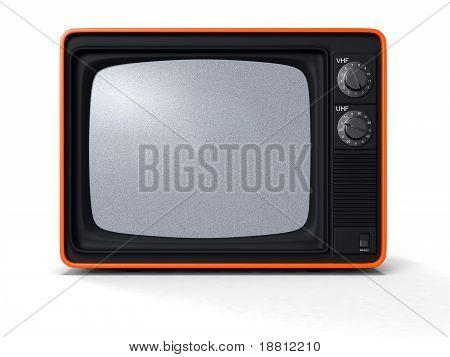 retro TV orange shell