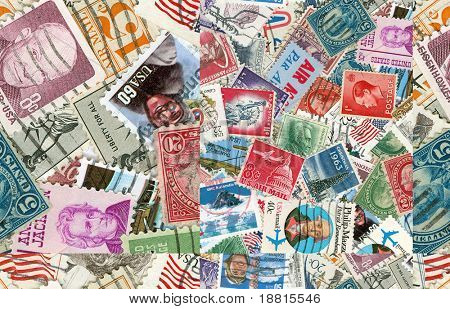 Collection of US vintage postmarks