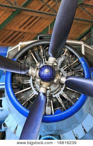 airscrew of a vintage plane