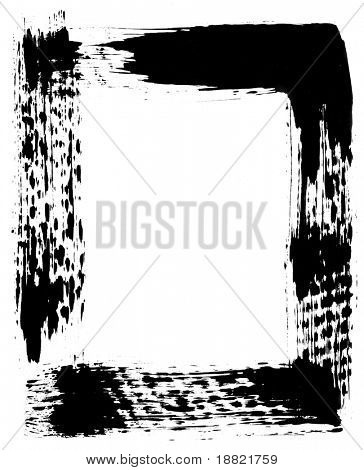 Old bold black photographic frame