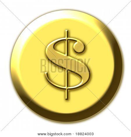 Golden dollar simbol