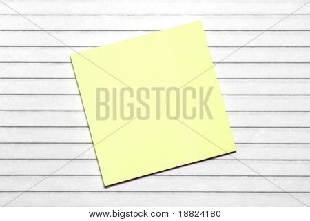 Yellow memo note paper