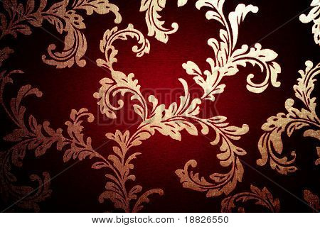 Dark damask wallpaper