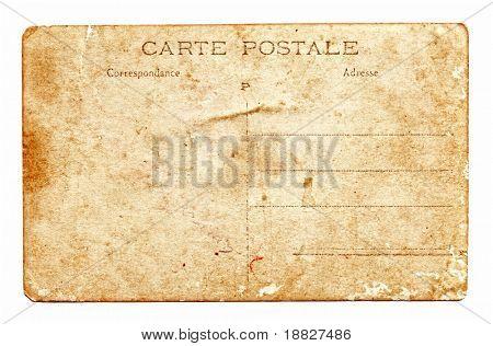 Vintage postcard back side