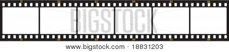 Vector image of numbered negative film frames