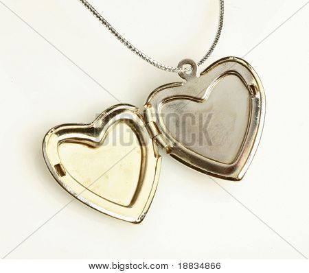 pendant with opened silver heart