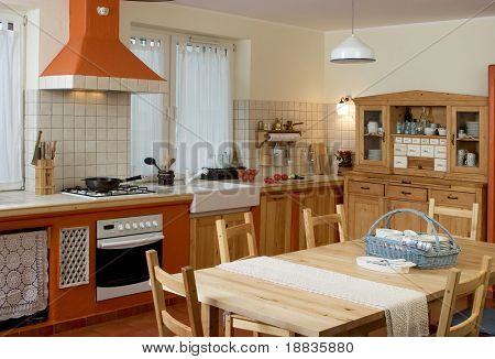 part of vintage design kitchen