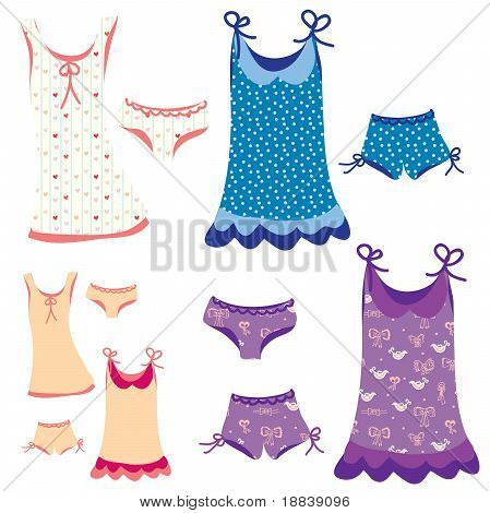 Pajamas funny set with patterns