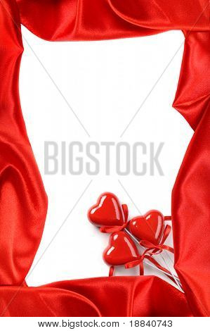 Red frame Love letter background Valentine Day pattern Isolated over white background