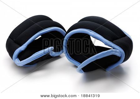 Exercise Wrist Weights isolated on white background