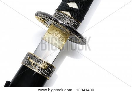 Katana sword in the scabbard