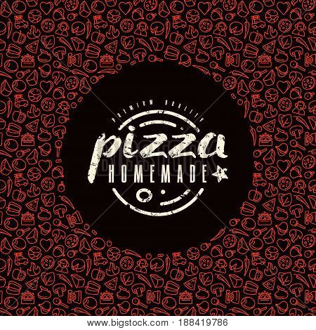 Stock Vector Design Cover For Pizza Boxes