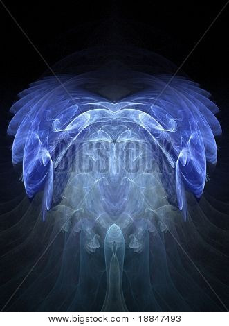 abstract fractal artwork in blues