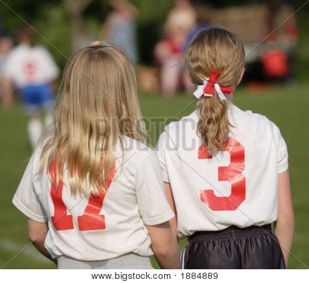 Soccer Players On Sidelines