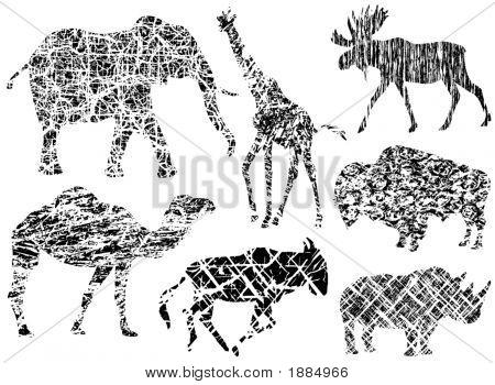 Grunge große Säugetiere