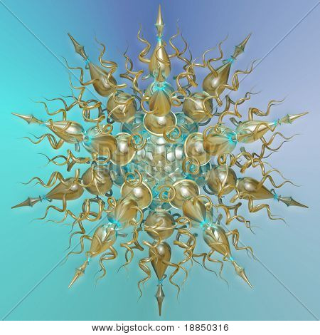 three dimensional mandala