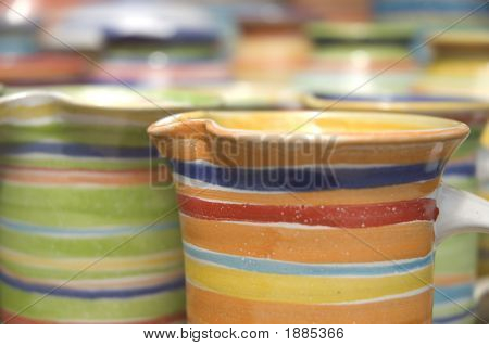 Set Of Colored Cups