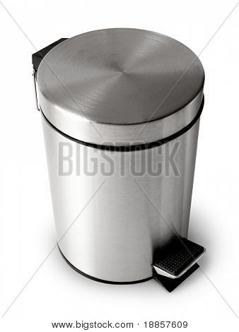 Wastebasket isolated on white background